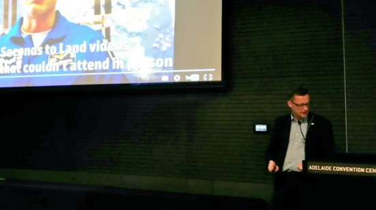 Remco giving a speech at one of the SpaceUp unconferences