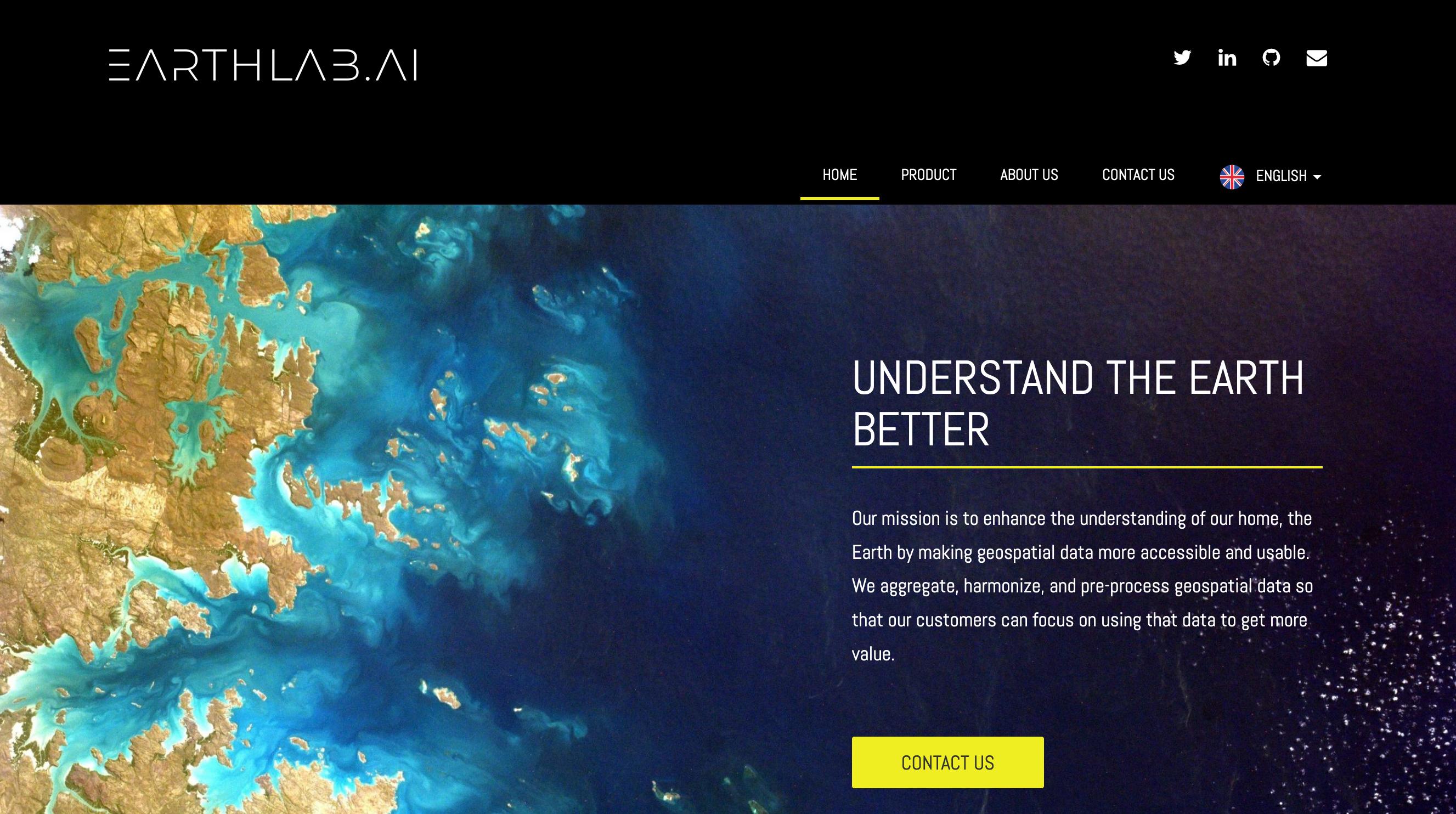 Earth Lab AI webpage